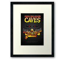 Super Spellbound Caves - Blaze Poster Framed Print