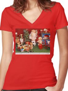 Hanging Up the Cards Women's Fitted V-Neck T-Shirt