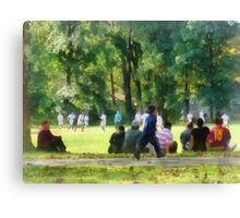 Watching the Soccer Game Canvas Print