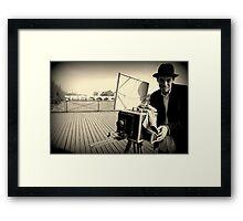 Paris - Black Box. Framed Print