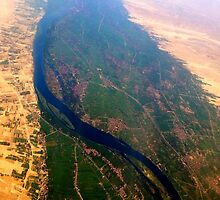 Egypt From Above - The Nile In Bright Color by MeisWaffles