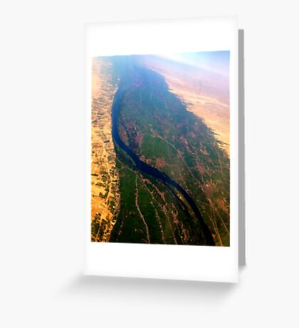 Egypt From Above - The Nile In Bright Color Greeting Card