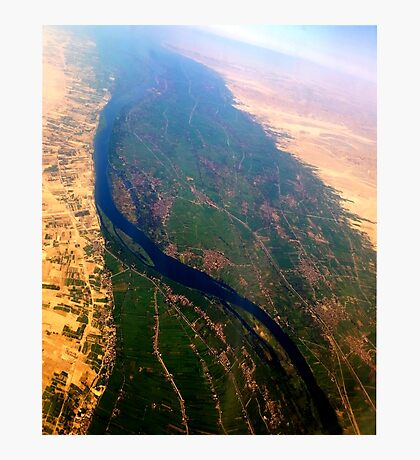 Egypt From Above - The Nile In Bright Color Photographic Print