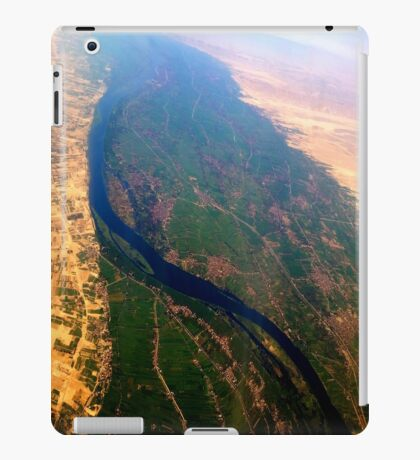 Egypt From Above - The Nile In Bright Color iPad Case/Skin