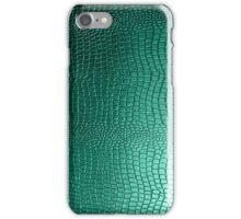 Green Snakeskin Leather Look Pattern iPhone Case/Skin