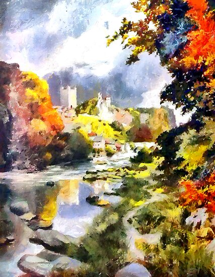 An Impressionist View of Autumn in Richmond 1908 by Dennis Melling