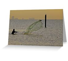 Catchin' Bait Greeting Card