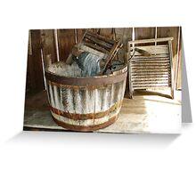 wash day blues Greeting Card