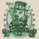 Green Irish Ale Label by MudgeStudios