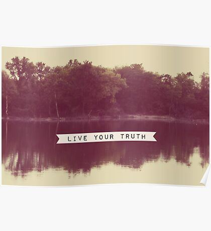 live your truth Poster