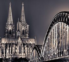 The Cologne cathedral split toned by Markus Landsmann