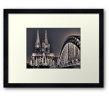 The Cologne cathedral split toned Framed Print