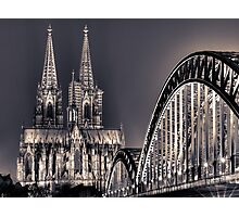 The Cologne cathedral split toned Photographic Print