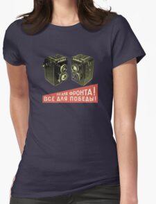 Lubitel addict Womens Fitted T-Shirt