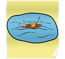 Fishing Boat Cats Poster