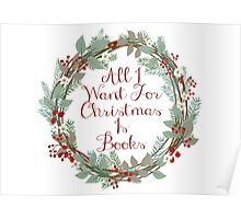 All I Want For Christmas Is Books Poster