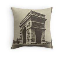 Parisian Postcard - II Throw Pillow