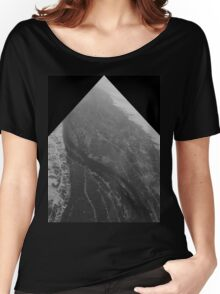 Egypt From Above - The Nile In Black and White - Framed Women's Relaxed Fit T-Shirt