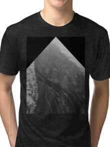 Egypt From Above - The Nile In Black and White - Framed Tri-blend T-Shirt