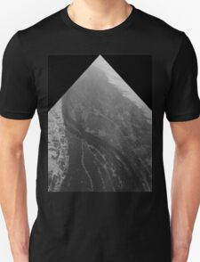 Egypt From Above - The Nile In Black and White - Framed T-Shirt
