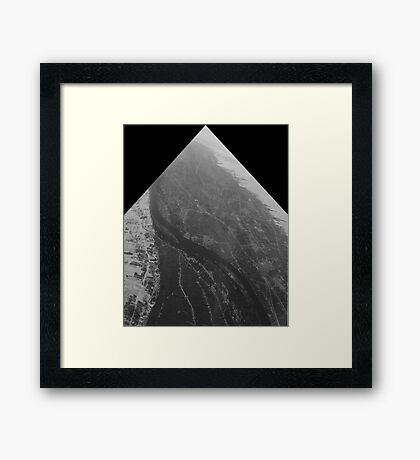 Egypt From Above - The Nile In Black and White - Framed Framed Print