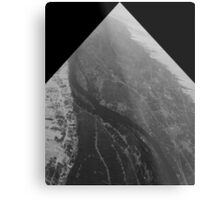 Egypt From Above - The Nile In Black and White - Framed Metal Print
