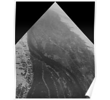 Egypt From Above - The Nile In Black and White - Framed Poster