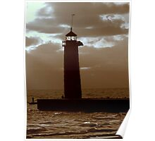 Pierhead Lighthouse Kenosha Wisconsin Poster