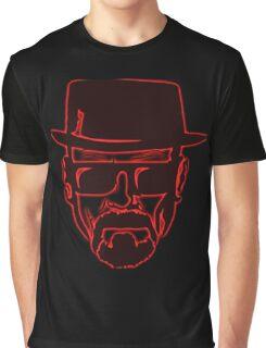 Walter White Heisenberg Breaking Bad Red Neon Graphic T-Shirt