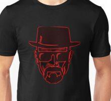 Walter White Heisenberg Breaking Bad Red Neon Unisex T-Shirt