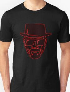 Walter White Heisenberg Breaking Bad Red Neon T-Shirt