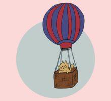Hot Air Balloon Cat One Piece - Short Sleeve