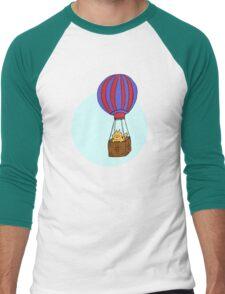 Hot Air Balloon Cat Men's Baseball ¾ T-Shirt