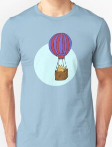 Hot Air Balloon Cat Unisex T-Shirt