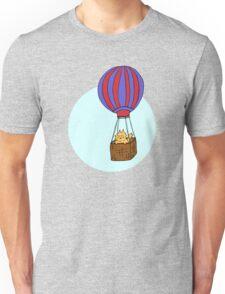Hot Air Balloon Cat Unisex T-Shirt