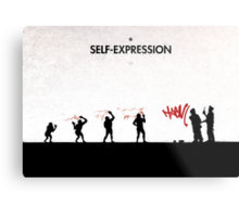99 Steps of Progress - Self-expression Metal Print