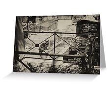 Parisian Postcard - XII Greeting Card