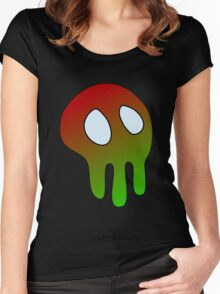 Greeny Skull Women's Fitted Scoop T-Shirt