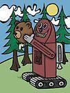 Teddy Bear And Bunny - I Did Good? by Brett Gilbert