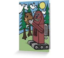 Teddy Bear And Bunny - I Did Good? Greeting Card
