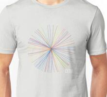 Circular Explosion Rainbow Nonsense Unisex T-Shirt