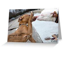 George & Stella Greeting Card