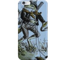 froggy takes his beetles for a walk iPhone Case/Skin