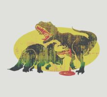 Triceratops vs T Rex Dino Fight T-Shirt