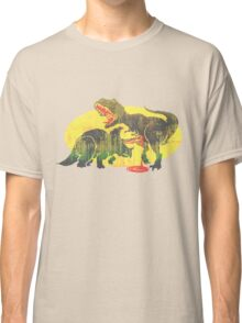Triceratops vs T Rex Dino Fight Classic T-Shirt