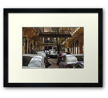 Crowded street Framed Print