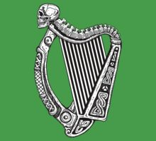 Irish Harp with Skull by ZugArt