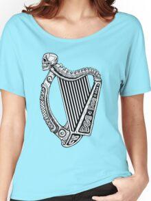 Irish Harp with Skull Women's Relaxed Fit T-Shirt