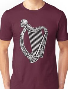 Irish Harp with Skull Unisex T-Shirt