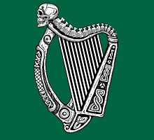 Irish Harp with Skull Unisex T-Shirt